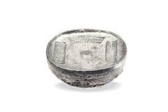 中国古老银色锭 免版税库存图片