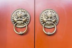 中国古老门 库存照片