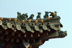 中国古老建筑学 免版税库存照片
