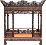中国古色古香的床 免版税库存照片