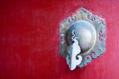中国古铜色通道门环 免版税库存照片