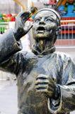 中国古铜色雕象 免版税库存图片