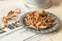 中国可食的百合花 库存图片