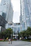 中国和亚洲,北京,三里屯苏荷区,现代大厦,商业区 免版税库存照片