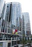 中国和亚洲,北京,三里屯苏荷区,现代大厦,商业区 图库摄影