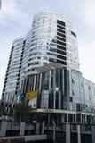 中国和亚洲,北京,三里屯苏荷区,现代大厦,商业区 免版税图库摄影