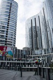 中国和亚洲,北京,三里屯苏荷区,现代大厦,商业区 免版税库存图片