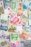 中国和俄国货币 免版税库存图片
