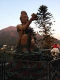 中国和平佛教菩萨雕象寺庙 免版税图库摄影