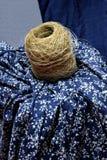 中国和非洲无形的文化遗产----荣昌亚麻制苎麻纺织品和亚麻布饲料 库存图片