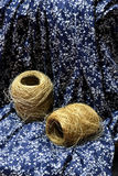 中国和非洲无形的文化遗产----荣昌亚麻制苎麻纺织品和亚麻布饲料 免版税库存照片