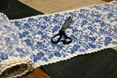 中国和非洲无形的文化遗产----荣昌亚麻制苎麻纺织品和亚麻布饲料 图库摄影