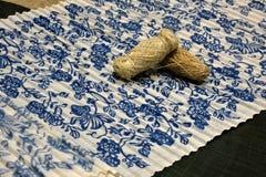 中国和非洲无形的文化遗产----荣昌亚麻制苎麻纺织品和亚麻布饲料 免版税库存图片
