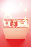 中国和$100美金 库存图片