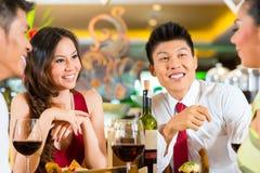 中国商人用餐 免版税图库摄影