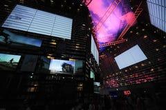 中国商展2010年上海城市居民亭子 免版税库存照片