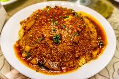 中国嘎吱咬嚼的米 免版税库存照片