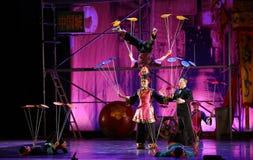 从中国国民马戏的杂技演员 库存图片