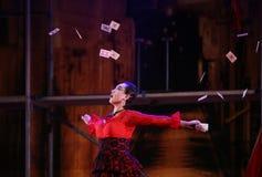 从中国国民马戏的杂技演员 免版税库存照片