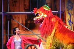 从中国国民马戏的杂技演员 免版税库存图片