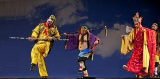 中国国王猴子歌剧 免版税库存图片