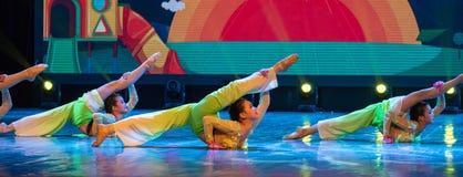 中国国籍茉莉花伙计舞蹈一个美好的片断  免版税图库摄影
