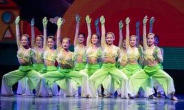 中国国籍茉莉花伙计舞蹈一个美好的片断  免版税库存图片