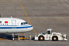 中国国际航空B-6383 库存图片