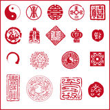 中国图标新年度 库存照片