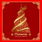 中国圣诞节背景 抽象空白背景圣诞节黑暗的装饰设计模式红色的星形 圣诞节贺卡的传染媒介例证 皇族释放例证
