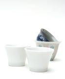 中国在白色的茶杯 库存图片