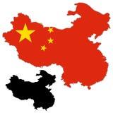 中国地图旗子 图库摄影
