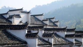 中国地方样式寓所屋顶  库存照片