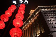 中国城市在新年 库存照片