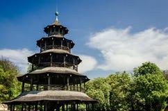 中国塔在慕尼黑 免版税库存照片
