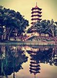 中国塔在新加坡 免版税库存照片