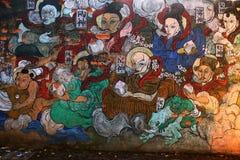 中国壁画 免版税库存照片