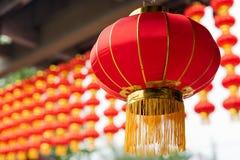 中国多个红色中国灯笼 免版税库存照片