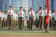 中国大学生军事训练整洁的驻地10 免版税库存图片