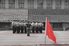 中国大学生军事训练整洁的驻地15 图库摄影