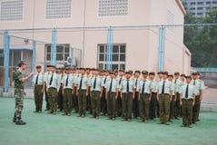 中国大学生军事训练整洁的驻地16 免版税图库摄影