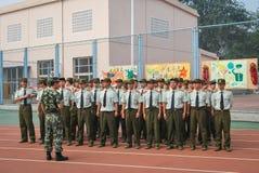 中国大学生军事训练整洁的驻地19 库存图片