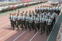 中国大学生军事训练16 库存照片