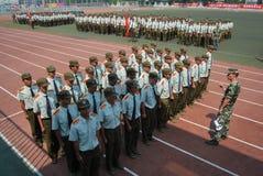 中国大学生军事训练18 库存照片