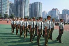 中国大学生军事训练19 库存照片