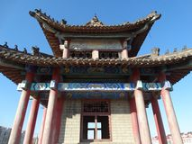 中国大连在辽宁瓦房店陈述yongfeng塔 免版税图库摄影
