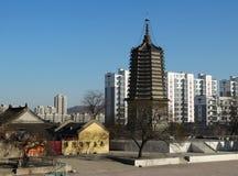 中国大连在辽宁瓦房店陈述yongfeng塔 图库摄影