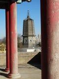 中国大连在辽宁瓦房店陈述yongfeng塔 免版税库存图片