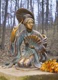 中国夫人雕塑  库存照片