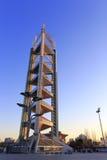 中国奥林匹克公园电视塔在冬天 免版税库存照片
